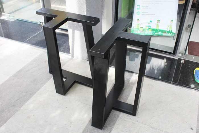 Chân bàn sắt hộp chữ T