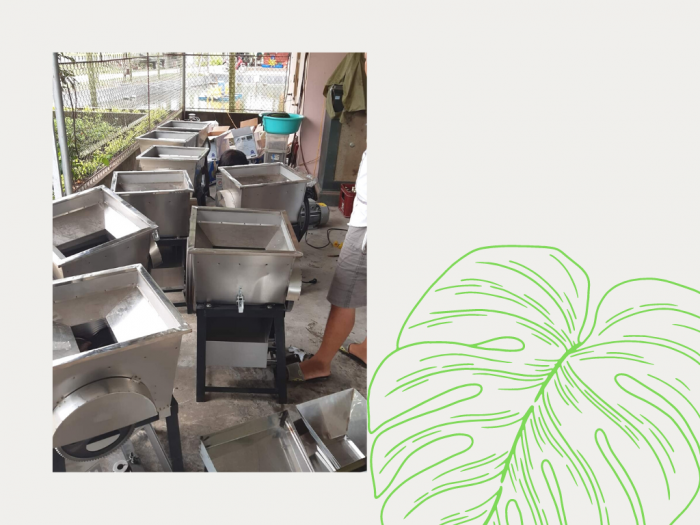 Kho máy chế biến thức ăn chăn nuôi hộ gia đình - máy xay nhuyễn, nghiền từ chuối cây, bèo, cỏ, cá tạp, bắp hạt và phối trộn chúng