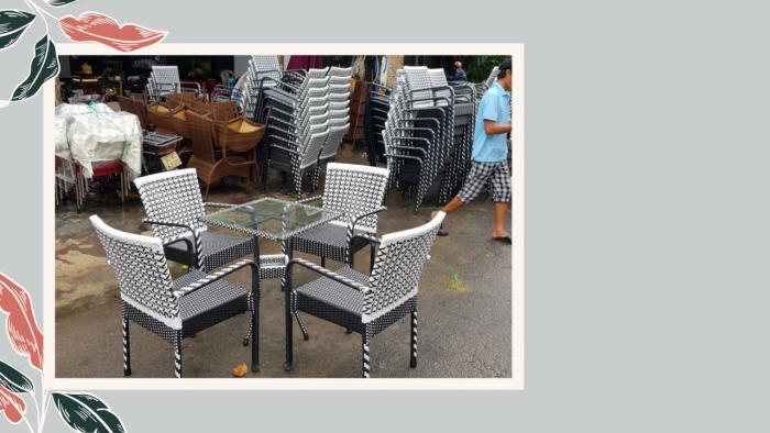 Bàn ghế cafe ngoài trời giá rẻ tại sài gòn