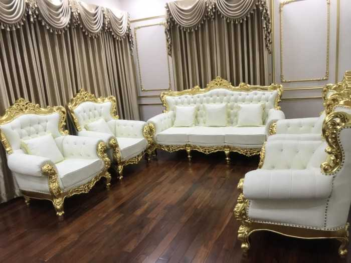 xưởng sofa tân cổ điển dát vàng