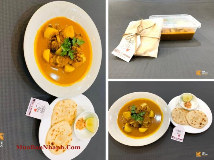 Cà ri gà & bánh mì Naan Ấn Độ giao hàng HCM