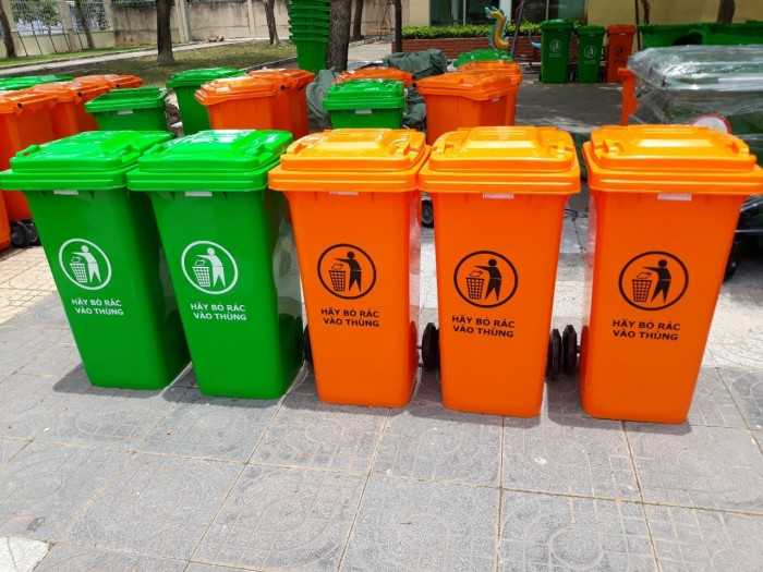 Thùng đựng rác nhựa, thùng đựng rác loại lớn, thùng đựng rác Duy Tân, thùng đựng rác giúp phân loại rác thải tại MuaBanNhanh