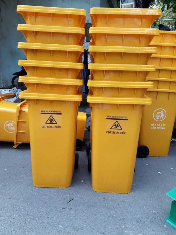 Thùng đựng rác có nắp, thùng rác đựng chất thải y tế đủ kích thước
