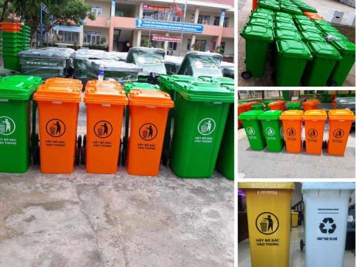 Kích thước thùng rác nhựa có nắp - Nhà sản xuất thùng rác nhựa HDPE, Composite TPHCM