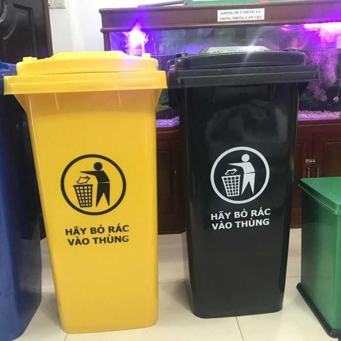 Thùng rác nhựa hdpe, thùng rác nhựa có nắp giá rẻ