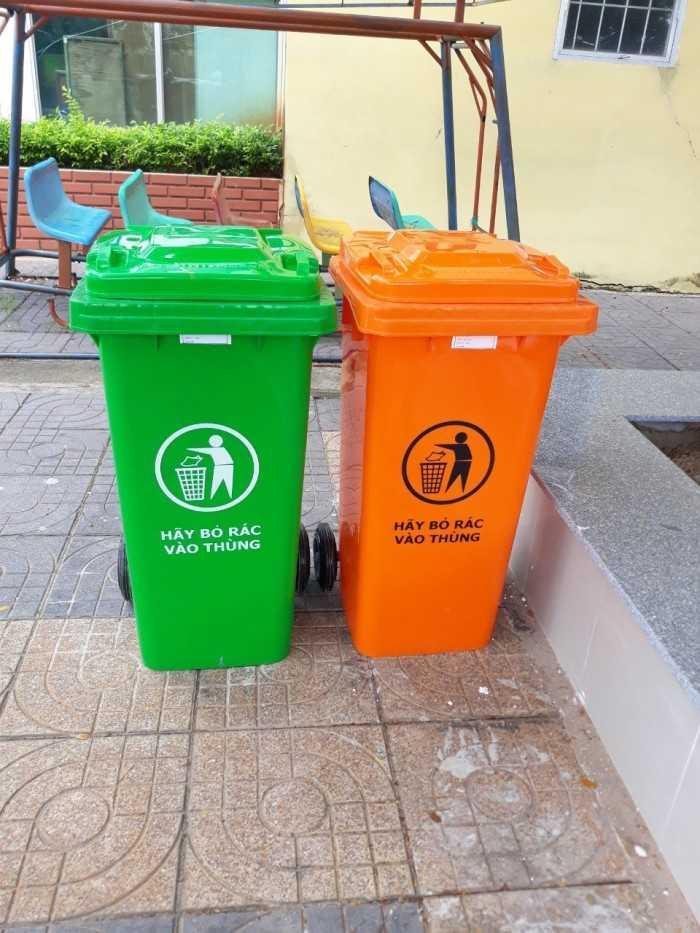 Thùng rác nhựa hdpe, thùng rác nhựa composite bền tốt, chất lượng