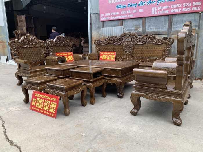 Mẫu bàn ghế gỗ góc phòng khách, mẫu bàn ghế phòng khách bằng gỗ đơn giản