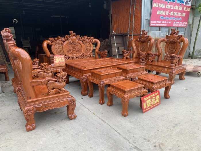 Bàn ghế gỗ phòng khách nhỏ gọn, mẫu bộ bàn ghế gỗ phòng khách đẹp, mẫu bàn ghế gỗ cho phòng khách nhỏ