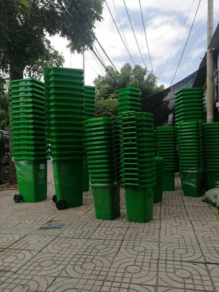 Kích thước thùng rác nhựa có nắp