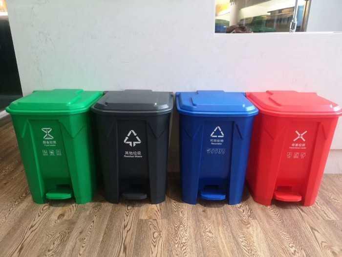 Thùng rác nhựa đạp chân 30l, mua thùng đựng rác nhựa có nắp ở đâu TPHCM