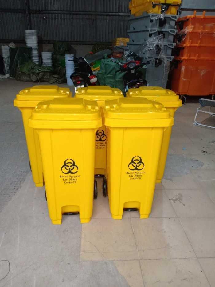 Thùng rác có nắp đậy đạp chân, các loại thùng rác nhựa đạp chân 30l, 20l, 15l giá rẻ