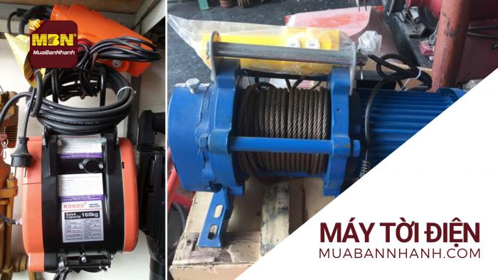 Mua bán máy tời điện treo, mặt đất mini, máy tời kéo cáp điện xây dựng
