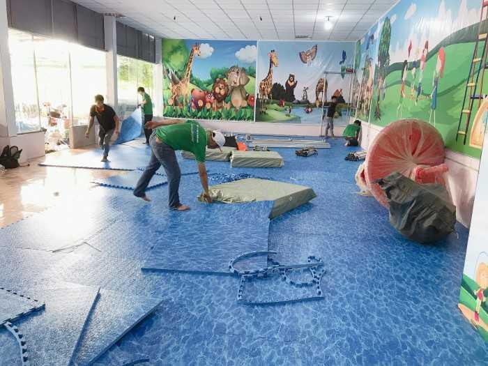 Thiết kế thi công khu vui chơi liên hoàn cho trẻ em