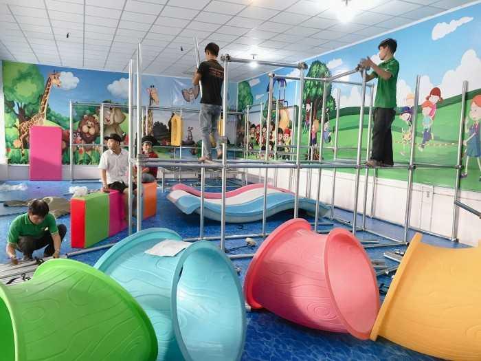 Lắp đặt trọn gói khu vui chơi trẻ em trong nhà trường mầm non, công viên ngoài trời
