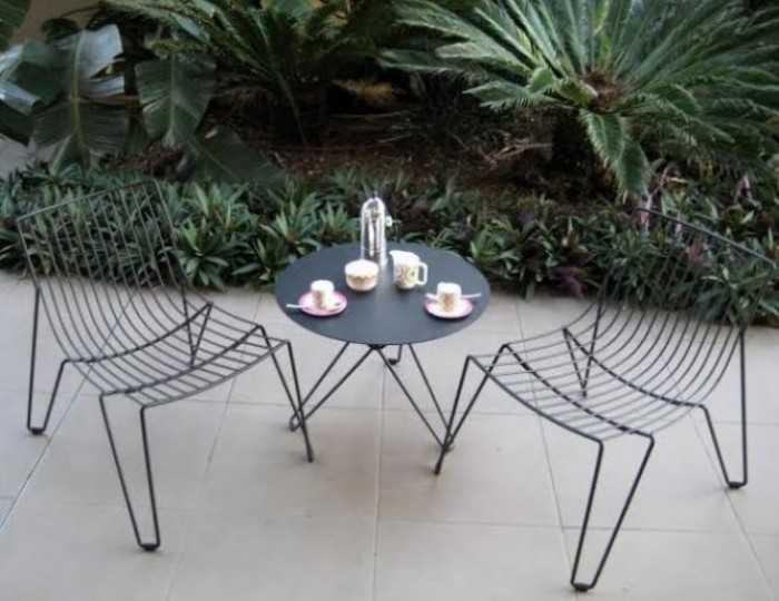 Mẫu bàn ghế cafe sắt cho quán cafe vỉa hè