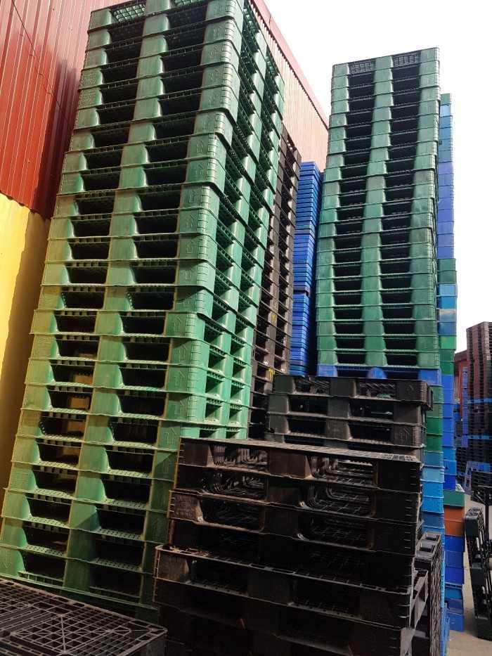 Giá pallet nhựa cũ tại Bắc Ninh - Công ty cho thuê mua bán pallet phục vụ khu công nghiệp - Ảnh: 1