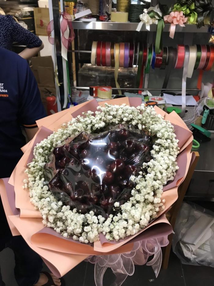 Quà tặng trái cây bó hoa Cherry