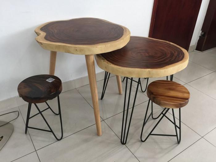 Mặt bàn gỗ đẹp, bàn ăn mặt gỗ chân sắt chất lượng