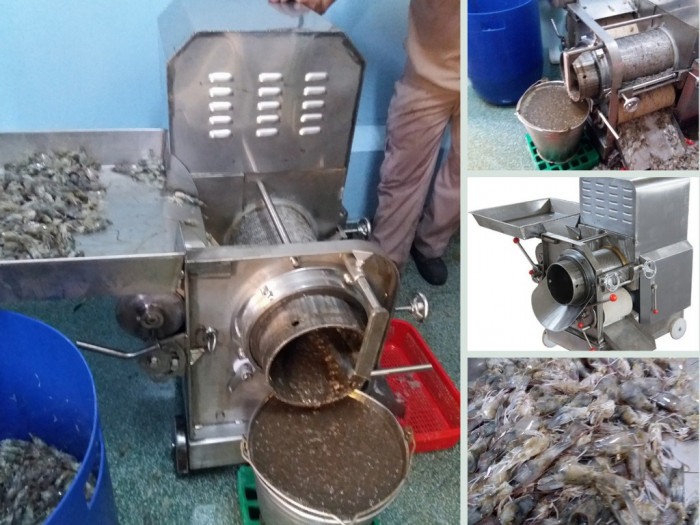 Bán máy nghiền đầu tôm xương cá nguyên liệu hải sản công suất nhỏ, xay nghiền siêu nhuyễn