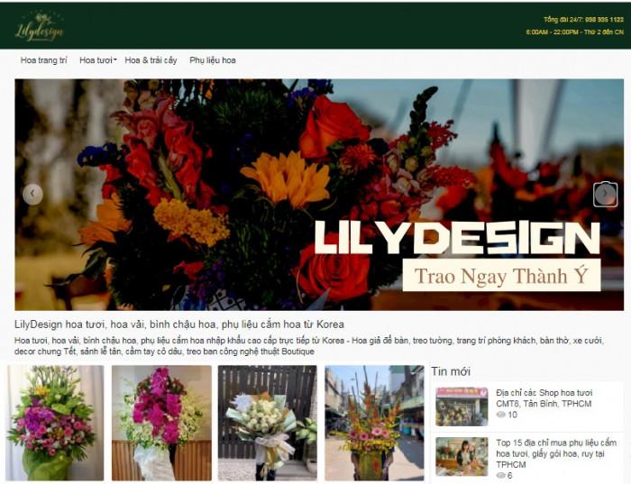Shop hoa tươi online Lilydesign