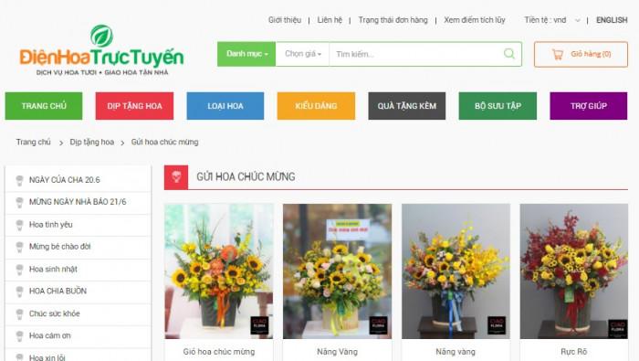 Ciaoflora điện hoa trực tuyến Việt Nam và quốc tế