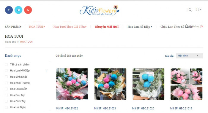 Shop hoa trực tuyến Kiến Flowers