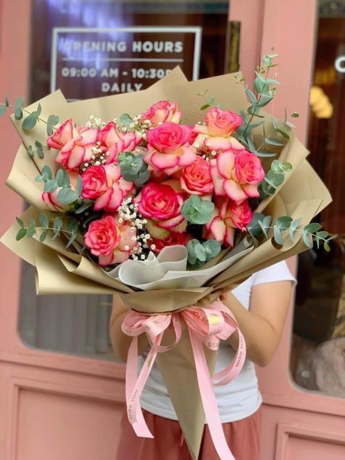 Giấy xi măng gói hoa, giấy kraft gói hoa