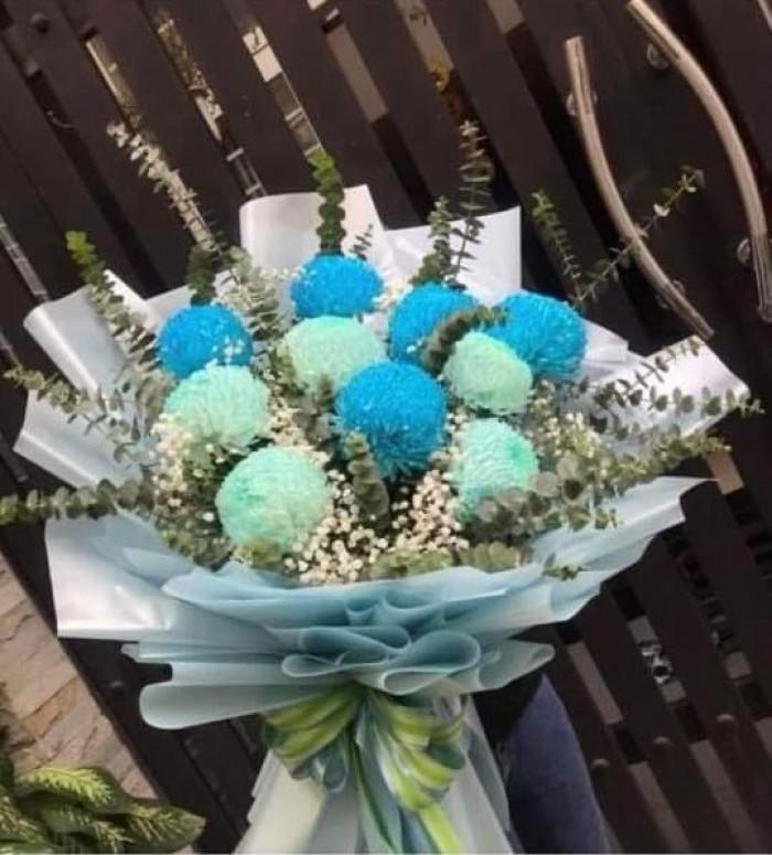 Giấy gói hoa xanh