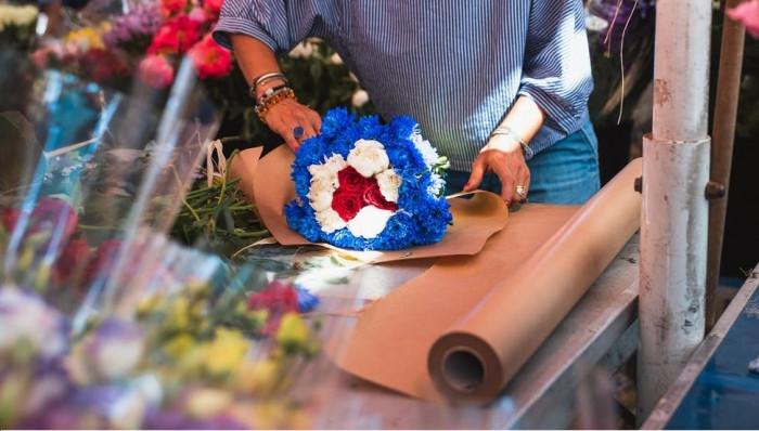 Giá giấy xi măng gói hoa, giấy Kraft gói hoa