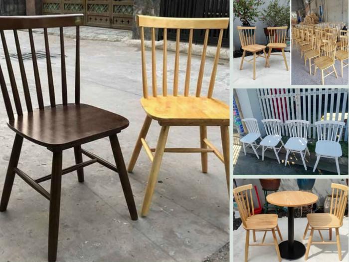 Mua bán ghế Pinnstol giá rẻ - dòng ghế gỗ 7 nan bàn ăn, ghế cafe sơn màu theo yêu cầu TPHCM