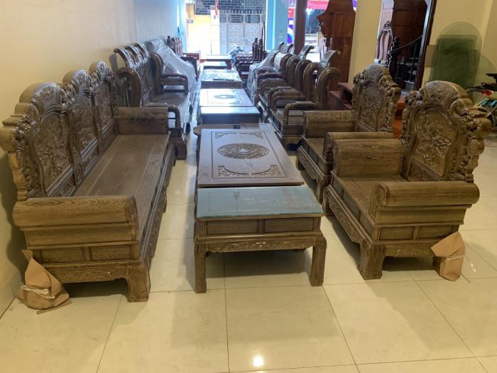 Bộ ghế gỗ mun, bàn ghế phòng khách gỗ mun, bộ ghế gỗ mun đen