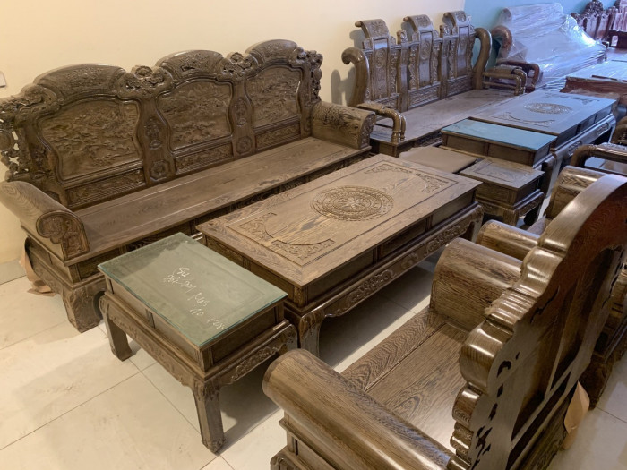 Bộ bàn ghế mun, giá bộ bàn ghế gỗ mun, bộ bàn ghế gỗ mun đen