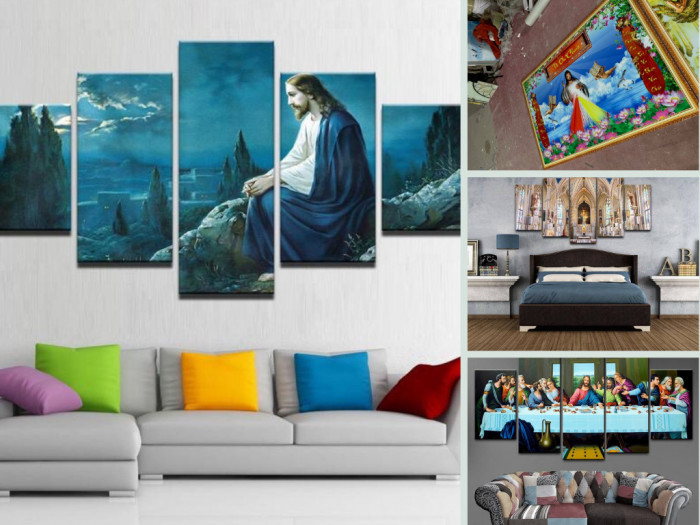 Nhà phân phối tranh gạch 3D Công giáo - Ốp tường đẹp với những bức tranh Công giáo nổi tiếng