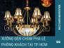 Xưởng đèn chùm pha lê phòng khách chung cư tại TPHCM