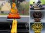 Cách đặt tượng Phật Bà Quan Âm, Phật Di Lặc trong xe ô tô, xe tải
