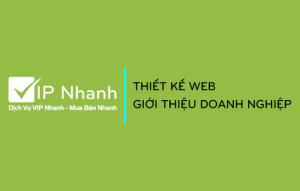 Thiết kế web VIP Nhanh giới thiệu doanh nghiệp