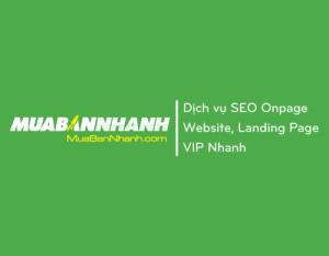 Dịch vụ SEO Onpage cho Website và Landing page