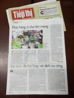 [ Báo Sài Gòn Tiếp Thị Online ] Đưa Tin Về Muabannhanh.Com - Đưa Hàng Ở Chợ Lên Mạng