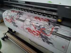 In vải silk - in tranh vải - in tranh lụa