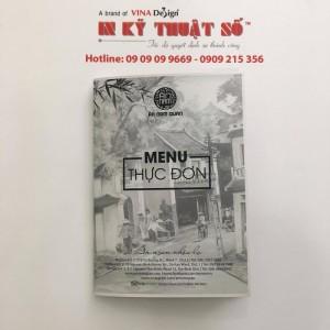 In thực đơn nhà hàng, in menu nhà hàng