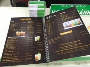 In Thực Đơn Quán Cafe, In Menu Quán Cafe