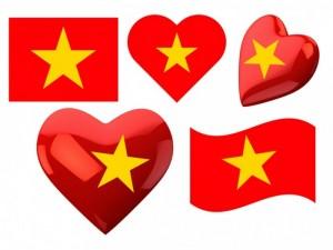 In sticker cờ đỏ sao vàng dán mặt