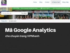Hướng Dẫn Cài Đặt Google Analytics Cho Chuyên Trang Vipnhanh