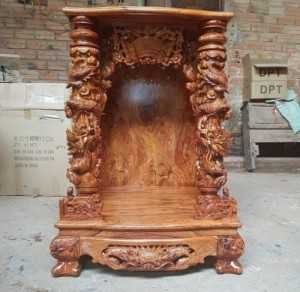 Mua bàn thờ ông địa, thần tài gỗ tự nhiên giá rẻ
