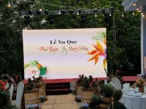 Báo giá thuê màn hình Led sân khấu tiệc cưới - màn hình Led đám cưới TPHCM