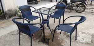 Mua bán bàn ghế mây nhựa cafe