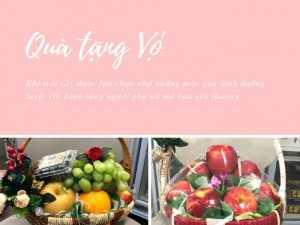 Quà tặng vợ ý nghĩa - Đặt giỏ trái cây TPHCM - Món quà dinh dưỡng tuyệt vời