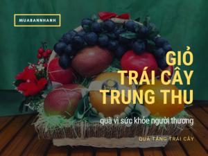 Giỏ trái cây Trung Thu - món quà tặng Trung Thu ý nghĩa vì sức khỏe người thương