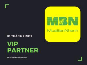 Dịch vụ thành viên VIP Partner MuaBanNhanh 2019