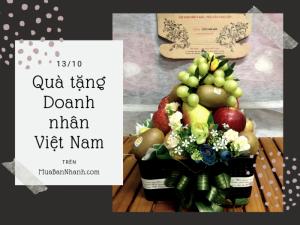 Quà tặng ngày doanh nhân Việt Nam 13/10 - Hamper trái cây, giỏ trái cây làm quà tặng sếp, đối tác, khách hàng, hội doanh nhân trẻ TPHCM